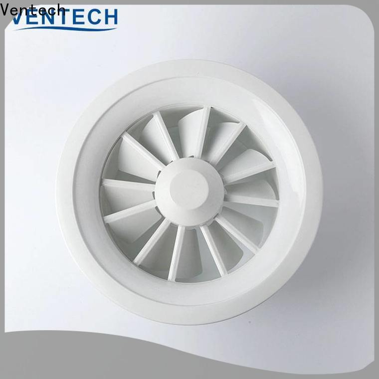 Ventech durable adjustable ceiling air diffuser factory for air conditioning