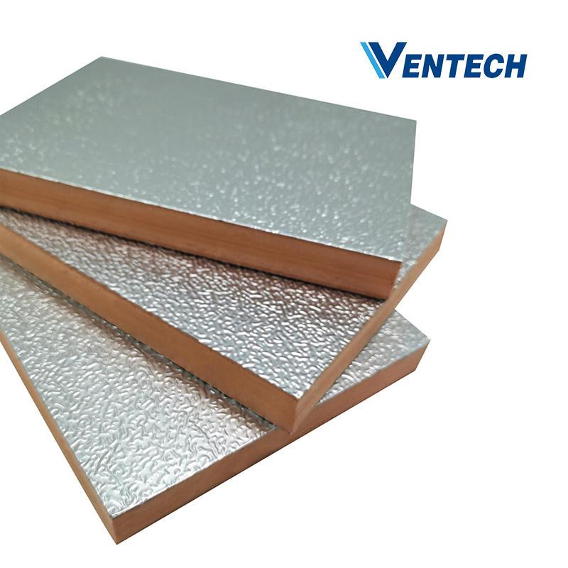 Aluminum foil phenolic foam board thickness 30mm for HVAC air duct
