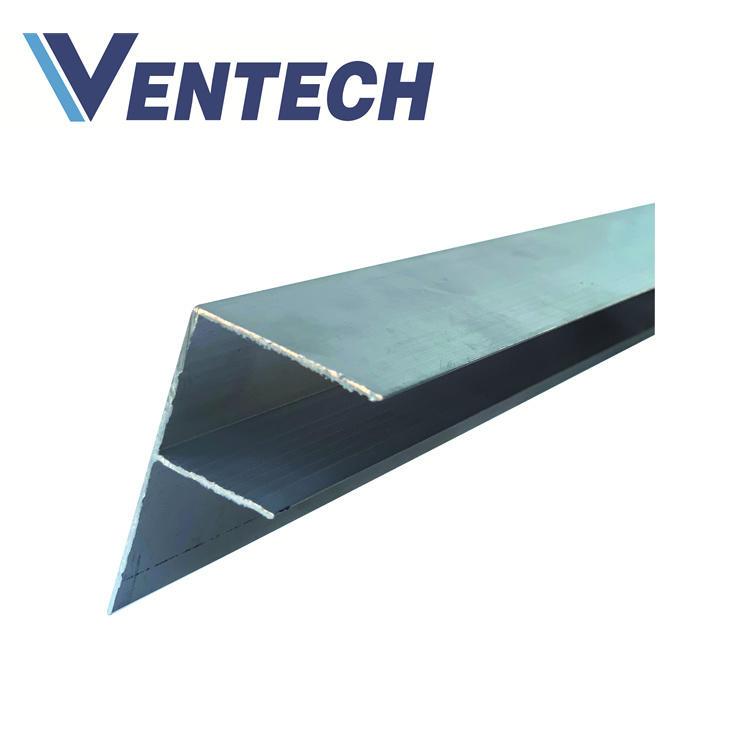 Aluminum F Flange for HVAC phenolic pre insulation air duct panel used